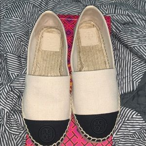 Tory Burch espadrille, color block cloth ones